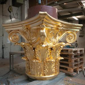 Säulenkapitel Bronzeguss 1,8 m Höhe